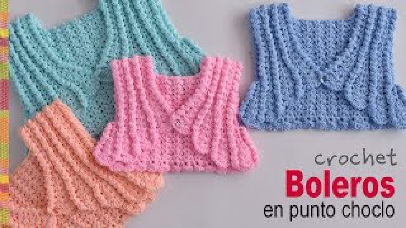 Boleros en punto choclo o maíz tejidos a crochet para bebés y niñas - Tejiendo Perú