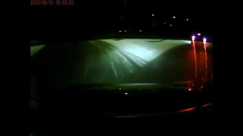 ДТП Курган 18 01 18 на перекрёстке с круговым движением