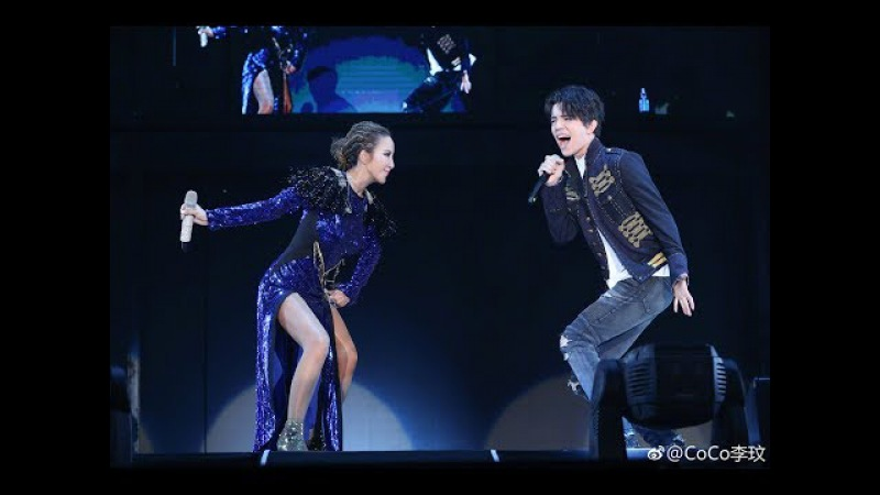 Prince Dimash Димаш Coco - 2 superstars set fire in the rain in Hangzhou 23 Sep 杭州雨无法阻止迪玛希李玟飙高音