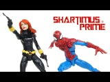 Marvel Legends Spider Man &amp Black Widow Vintage Collection Super Heroes Hasbro Figure Toy Review