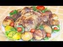 Курица, запеченная с лимоном и прованскими травами Картофель, запеченный в бек ...