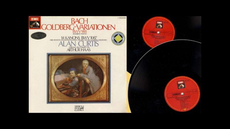 Alan Curtis (harpsichord) Bach, Goldberg-Variationen BWV 988 and 14 Kanons BWV 1087