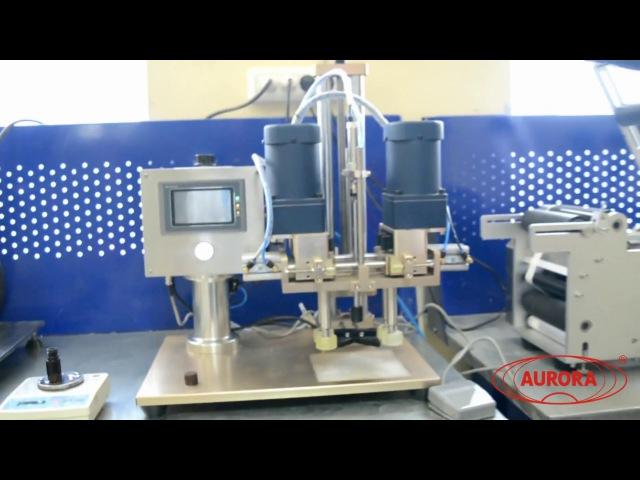 Комплекс оборудования для дозирования, укупорки и этикетировки.