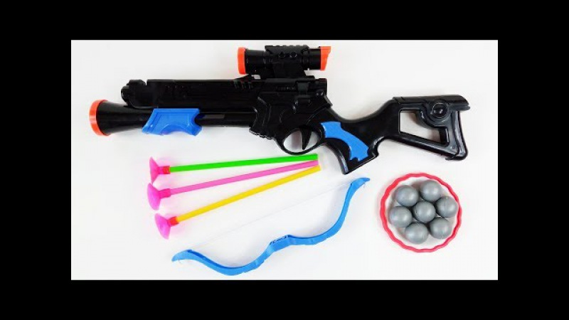 Powerful Toy bullet Gun for Kids-Bow and Arrow Set Toys for Kids and Children-Bow and Arrow for Kids