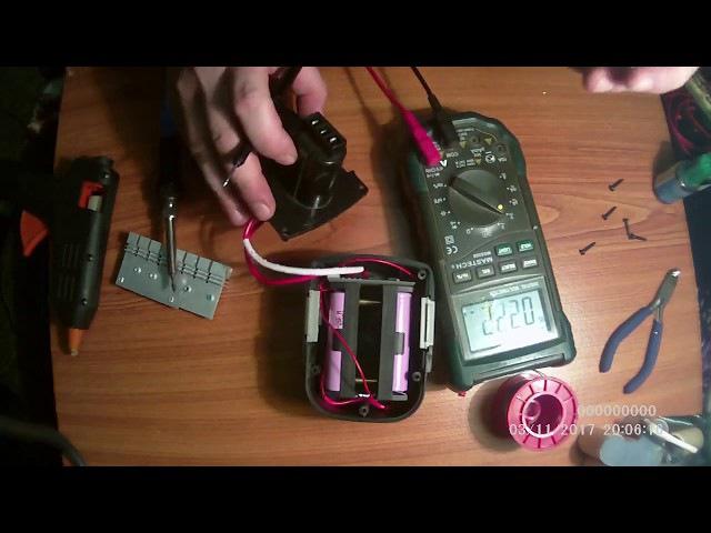 Меняем аккумуляторы в шуруповерте c NICd на Li-ion.