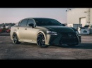 Matte Lexus GS 350 on 20 Lexani Cyclone Wheels