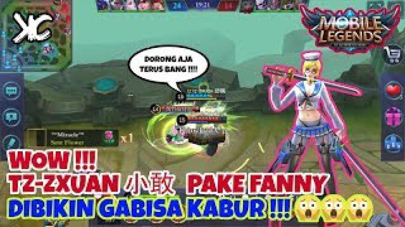 WOW TZ ZXUAN 小敢 Pake FANNY Dibikin Gabisa Kabur Sama Musuh FANNY GAMEPLAY AND BUILD