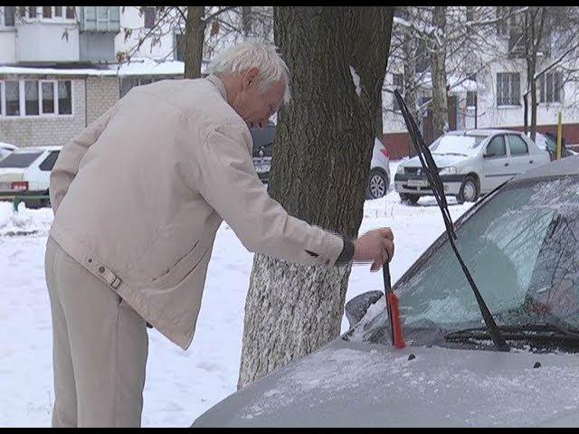 В Нижнекамске из-за дождя машины и дороги покрылись льдом
