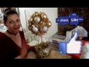 DIY 7 Como hacer topiario con esferas de Navidad