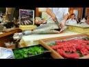 Японский Рыбный Рынок - Обработка Тунца На Филейные Части.