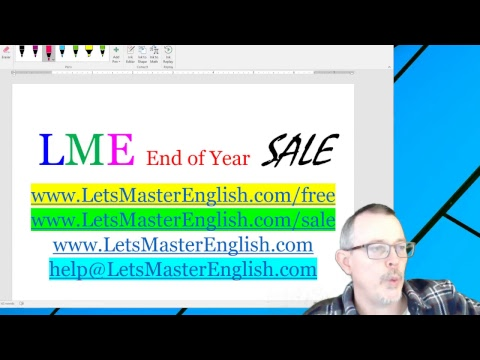 LME Questions and Answers about our SALE (Let's Master English with Coach Shane)