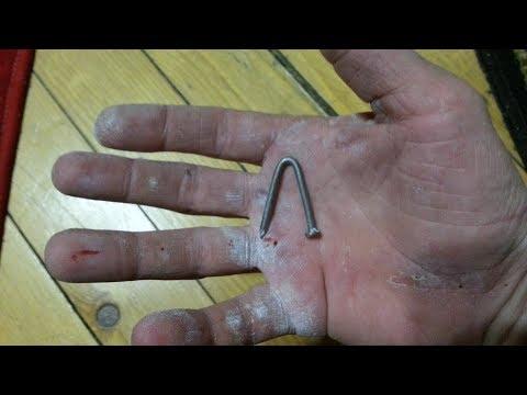 Самый маленький андерхенд гвоздя 70 на 3 Голые руки