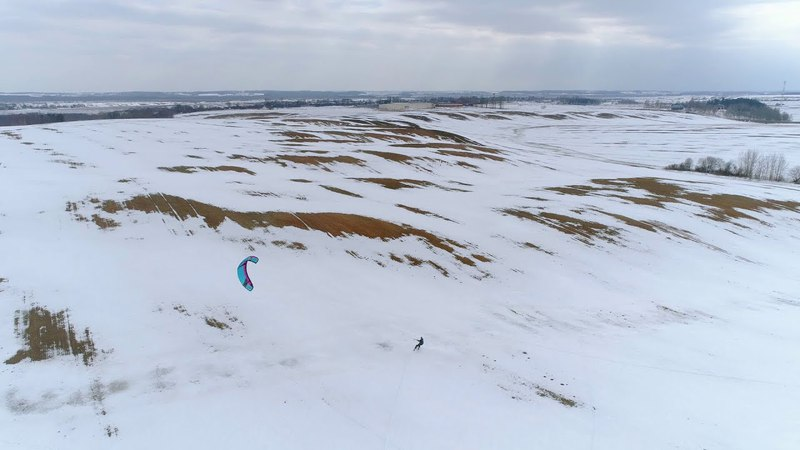 Snowkite Spring Session DRONE SHOTS