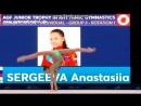 Анастасия Сергеева мяч командное многоборье AGF Trophy 2018 Баку