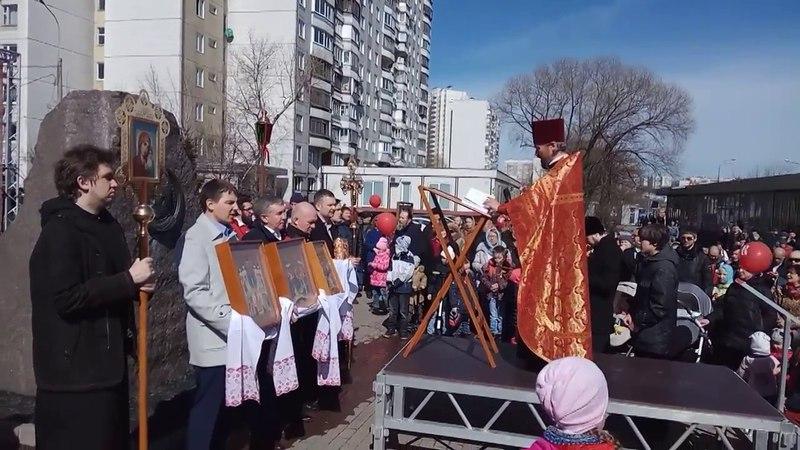 Крестный ход на Пасху 2018. Молебен