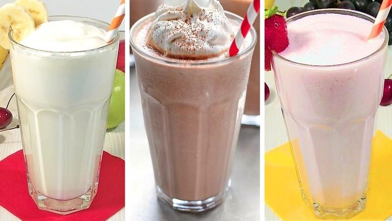 Классические Молочные Коктейли Ванильный Клубничный Шоколадный