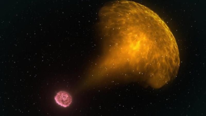 Doomed Neutron Stars Create Blast of Light and Gravitational Waves