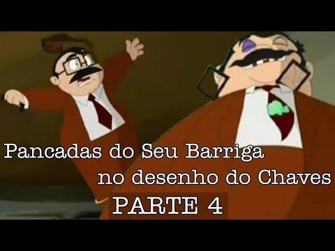 Todas as pancadas que deram no Seu Barriga no desenho animado do Chaves 4