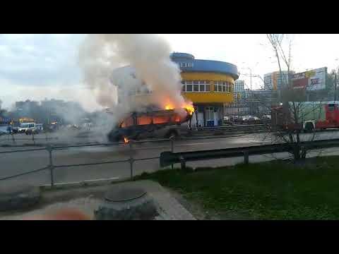 В Балашихе сгорела маршрутка