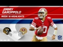 Jimmy Garoppolo Continues His Winning Streak! - Jaguars vs. 49ers - Wk 16 Player Highlights