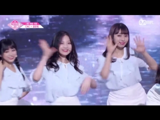 PRODUCE 48 1:1 eye contact   Юн Ынбин (CNC) - Gfriend Love Whisper Team 2 group battle