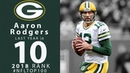 #10: Aaron Rodgers (QB, Packers)   Top 100 Players of 2018   NFL