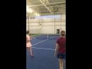 Изучение удара «смеш» с отскока с боковым вращением.Теннис.Смеш.