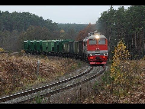 2М62У 0321 в красках золотой осени. Перегон Безлесная - Селиваново Горьковской железной дороги.