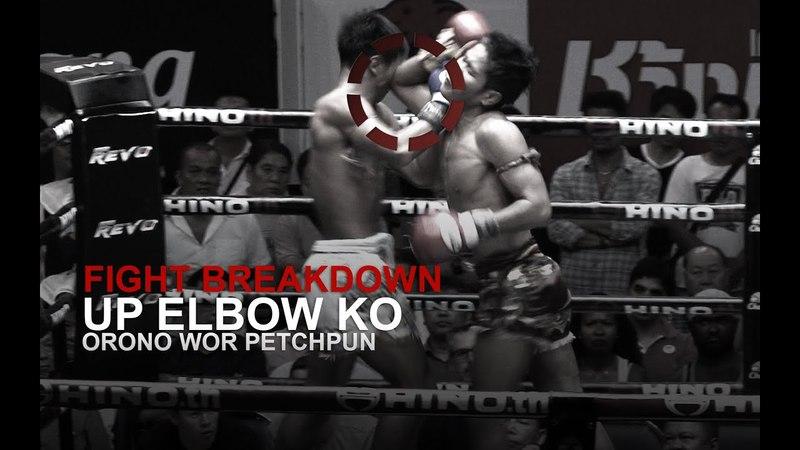 FIGHT BREAKDOWN: Nasty Muay Thai Up Elbow KO!