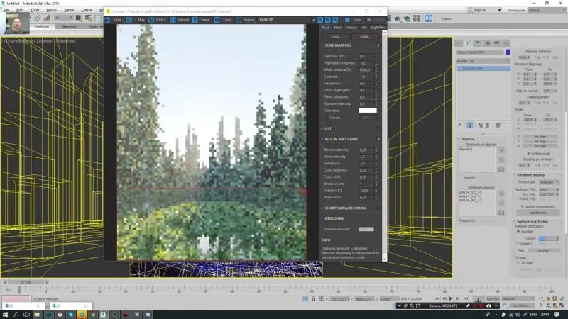 3Ds MAX CORONA RENDERER. Создание леса за один час. (Артем Куприяненко - CG Incubator Academy)