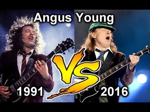 Angus Young 1991 VS Angus Young 2016 - How Much Old Angus Young ?