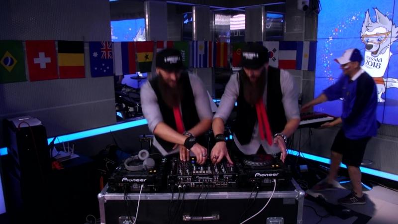 S-BROTHER-S прокачали студию Авторадио на матче Россия-Хорватия