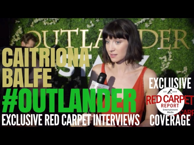 Caitriona Balfe interviewed at Outlander on Starz OutlanderFYC Event in Hollywood