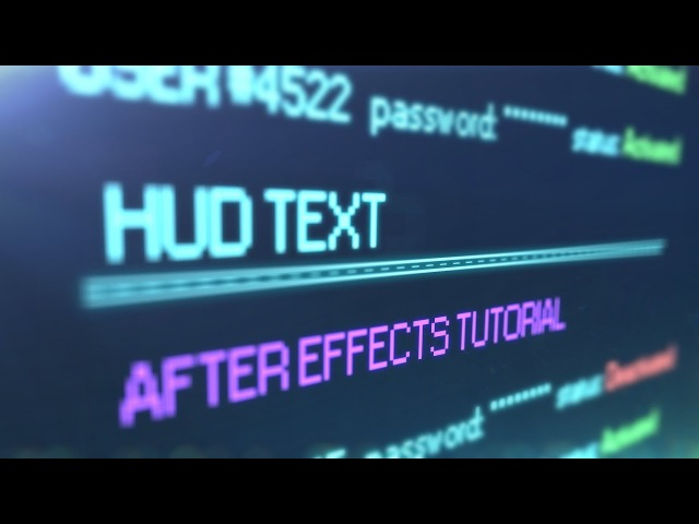 HUD text After Effects tutorial