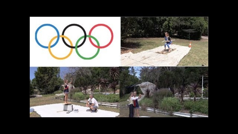 Winter Olympics recreated at home in Summer