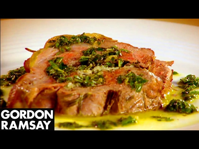 Leg of Lamb with Goat's Cheese and Mint | Gordon Ramsay