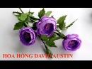 Hướng dẫn cách tự làm Hoa Hồng David Austin bằng giấy nhún ❀ DiyBigBoom-VN