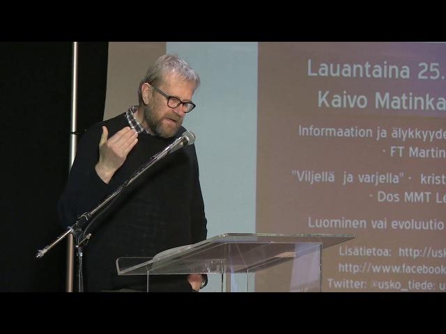 Usko ja tiede -foorumi 2017 | Lennart Saari Viljellä ja varjella