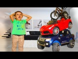Bad Baby Magic Little driver on Power Wheels cars transform Funny kids Prank Family Fun toys for kid