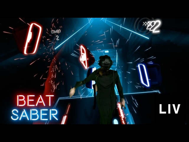PERFECT Combo in Beat Saber! (Hard Mode) w/ LIV Tech