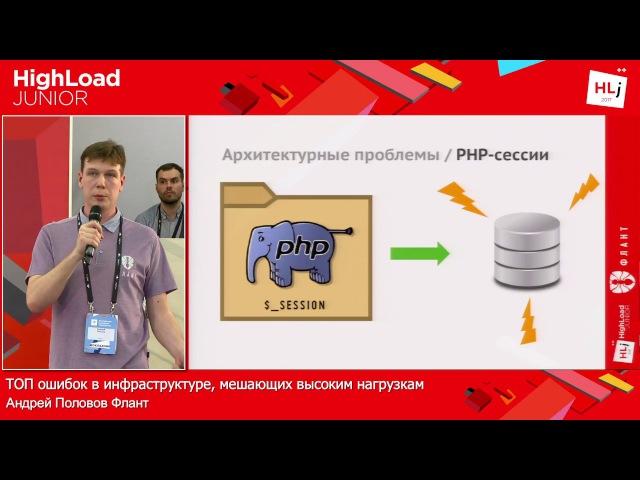 ТОП ошибок в инфраструктуре мешающих высоким нагрузкам Андрей Половов Флант