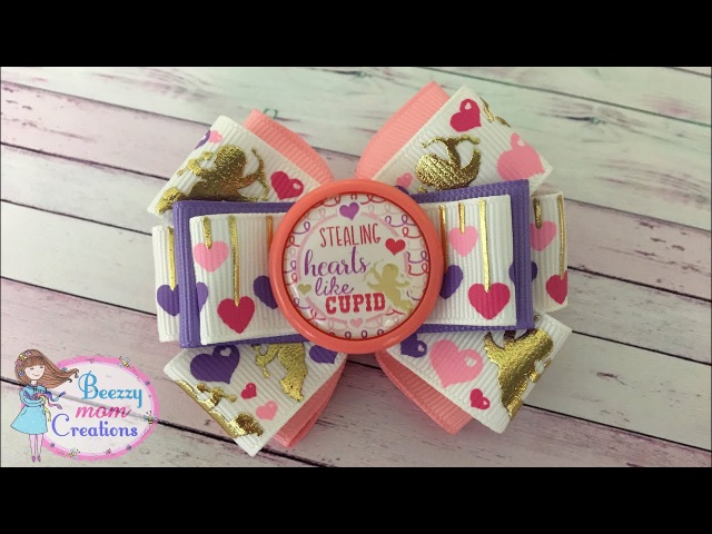 DIY Valentines Day Ribbon Bow/ Quick and Easy Bow /Cute little bow tutorial