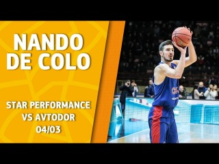 VTBUnitedLeague • Star Performance. Nando De Colo - 35 pts (career high), 7/9 3pt & 31 eff @ Avtodor Saratov!