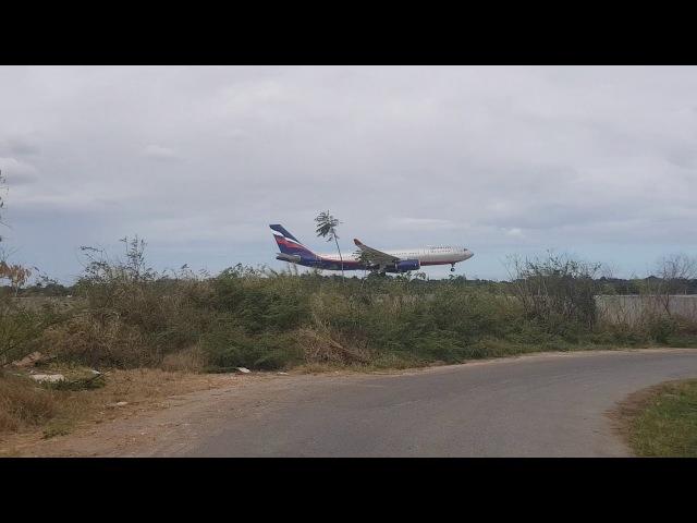 Посадка А330 200 Аэрофлот Иосиф Бродский VQ BBE в аэропорту Гаваны Кубы MUHA