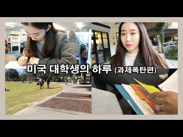 미국 대학생의 하루 - 과제폭탄편 / (eng) one day vlog of college student » Freewka.com - Смотреть онлайн в хорощем качестве