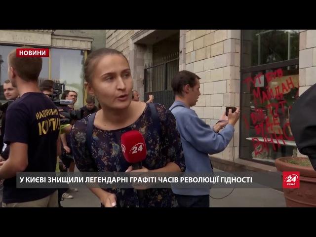 На Грушевського у Києві знову запалили шини обурені ...