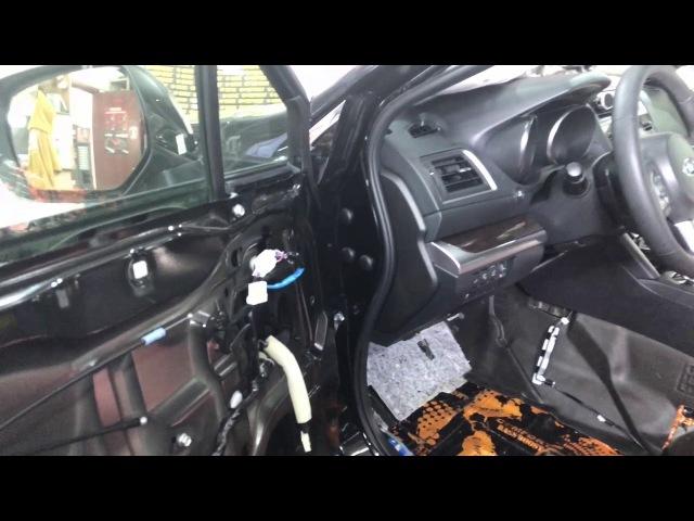 Subaru Outback виброшумоизоляция салона авто. Хорошо, когда машина тихая - так и водить приятней