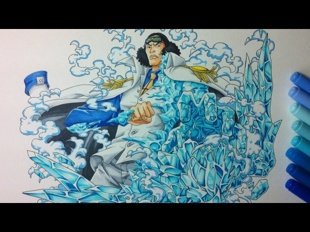 Drawing Admiral Aokiji Kuzan One Piece