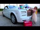 День рождения Кати - ДЕЖАВЮ. Белый ROLLS ROYCE в подарок едем в Holywood / Слиток ЗОЛОТА for gift