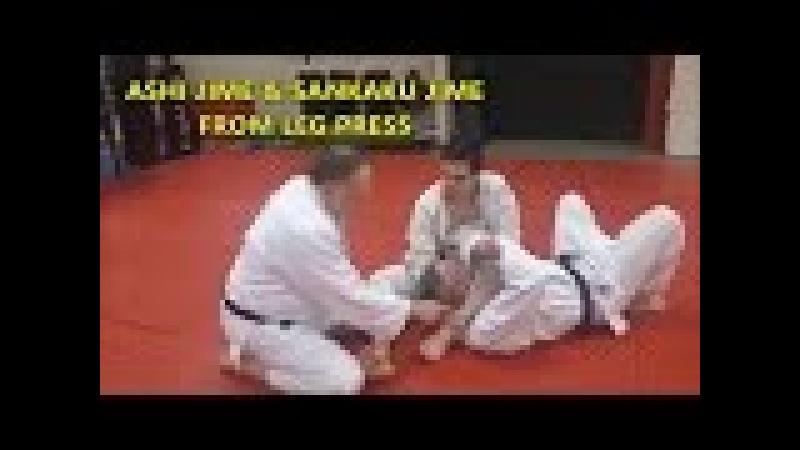 ASHI JIME (Leg Choke) SANKAKU JIME (Triangle Choke) Leg Press Position